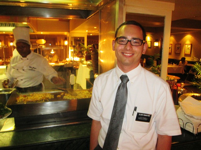 Nathi took us to a buffet to celebrate Elder Martinho